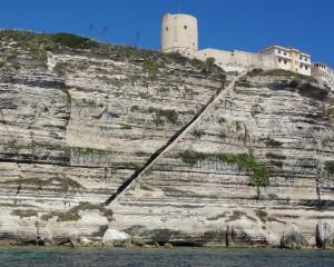 Bonifacio cliffs stairs