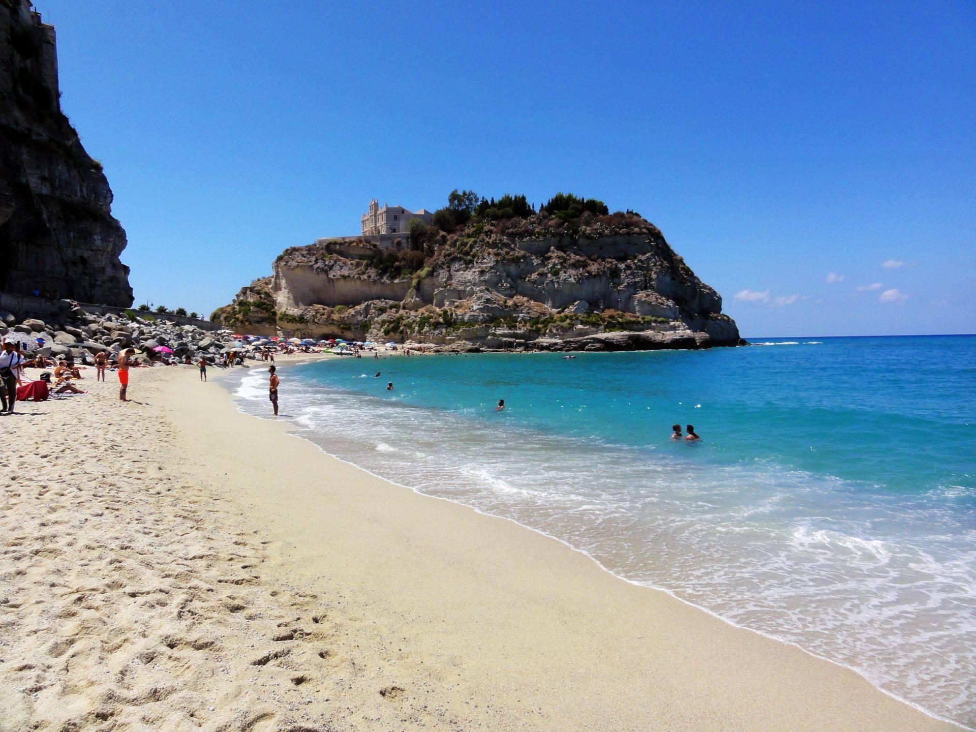 Italy Calabria Tropea Sandy Beach